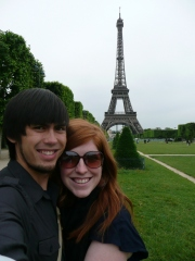 Megan and I on the Champs de Mars in front of the Eiffel Tower.
