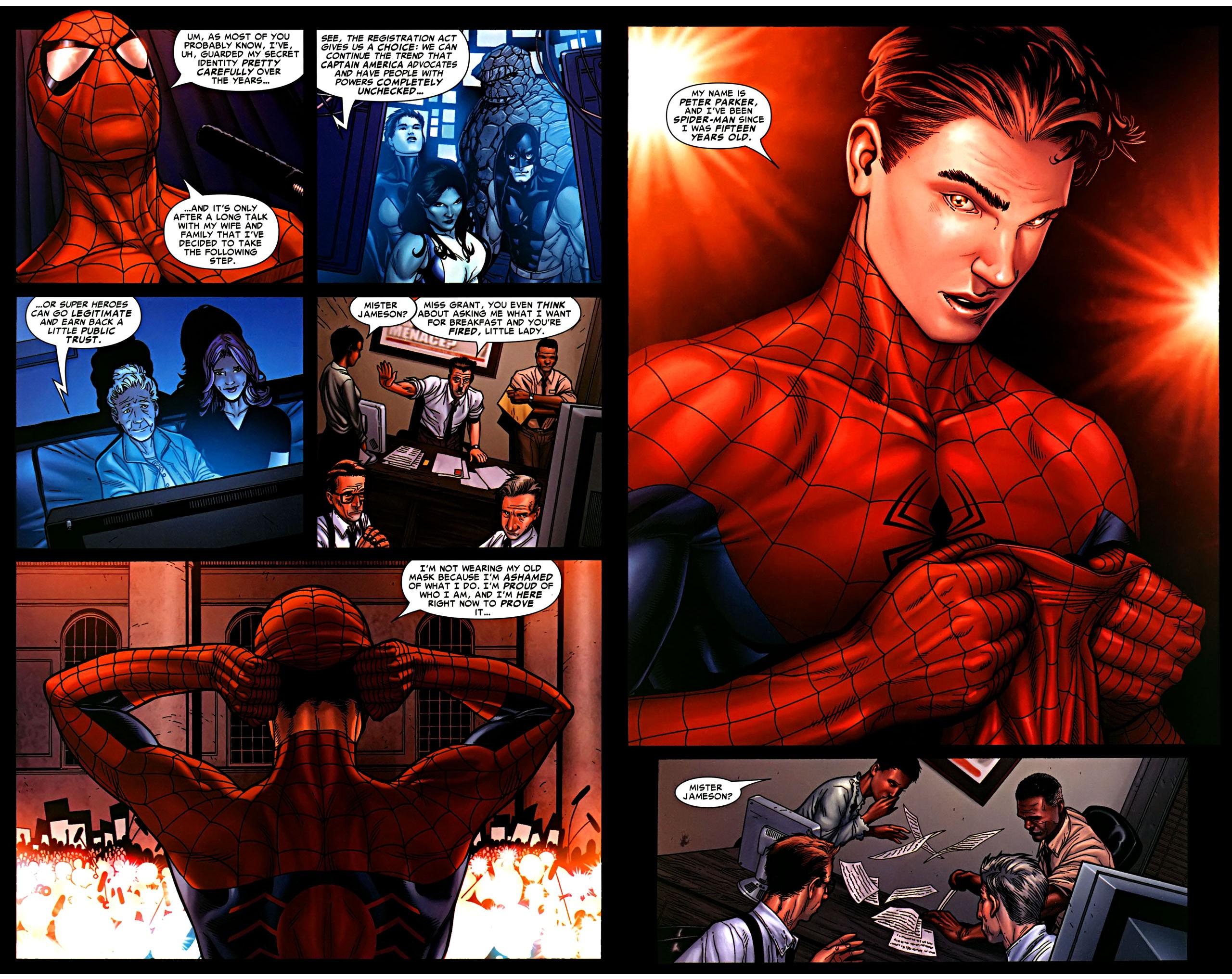 Question regarding Spidey revealing his secret identity : Marvel